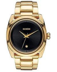 Nixon Armbanduhr Queenpin Analog Quarz Edelstahl A935510-00 - Mettallic