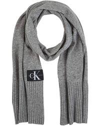 Calvin Klein J Basic Knitted Scarf Bufanda - Gris