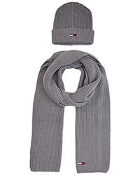 Hat /& Glove Set Tommy Hilfiger Mens Pima Cotton Scarf /& Beanie Gp Scarf