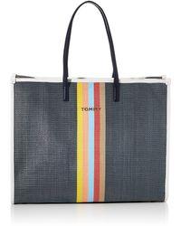 Tommy Hilfiger Beach Bag Raffia - Azul