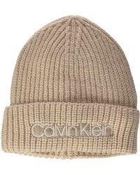 Calvin Klein Beanie Chapeau - Gris