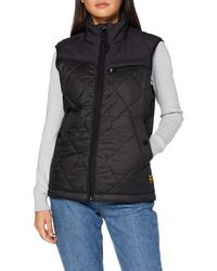 G-Star RAW Attacc Heatseal Quilted Hdd Vest Jacket - Black