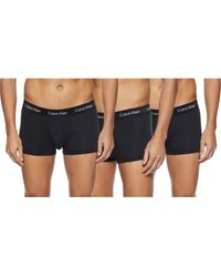 Calvin Klein 3 Pack Low Rise Trunks-Cotton Stretch Bóxers - Negro
