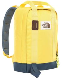 The North Face North Face Tote Backpack One Size Bamboo Yellow Blue Wing Teal