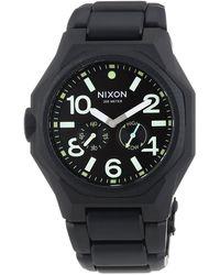 Nixon Armbanduhr XL Analog Quarz Edelstahl A3971042-00 - Schwarz