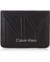 Calvin Klein Shaped Cc Holder Ausweis-& Kartenhülle - Schwarz