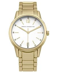 French Connection S Analogue Classic Quartz Watch With Stainless Steel Strap Sfc116gm - White