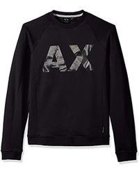 Armani Exchange | Neoprene Swetshirt With X Logo - Black