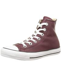 Converse - Chuck Taylor All Star Leather High Top Sneaker - Lyst
