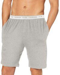 Calvin Klein Sleep Short Bas De Pyjama - Gris