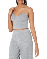 The Drop Catalina Sweater Bralette - Gray