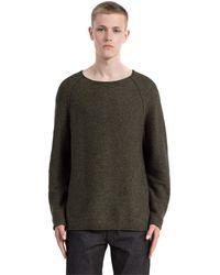 Calvin Klein Sarad Cn Sweater LS, suéter Hombre, Verde (Purple Grape Leaf), X-Large