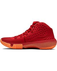 Under Armour HOVR Havoc 2, Chaussures de Basketball - Rouge