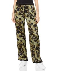 Scotch & Soda Drapey Wide Leg Trousers Jogging Bottoms - Green