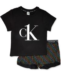 Calvin Klein Ck One Pride Print Pj Set - Black