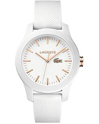 Lacoste 2000960 - Reloj analógico de pulsera para mujer - Blanco