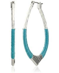 The Sak - S Thread Arabesque Hoop Earrings - Lyst