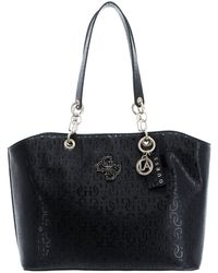 Guess - Chic Shine Tote Black - Lyst