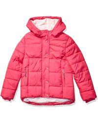 Amazon Essentials Heavy-Weight Hooded Puffer Coat Dress-Coats - Rosa