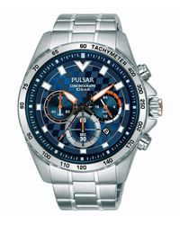 Seiko Pulsar Homme Uhr Analogique QUARTZ mit Acier Armband PT3A55X1 - Multicolore