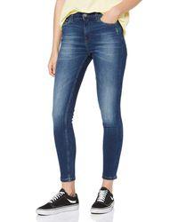 Tommy Hilfiger MID RISE SKINNY NORA 7/8 ELMD Straight Jeans - Blau