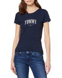 Tommy Hilfiger Tjw Tommy Script Tee T-Shirt - Blau