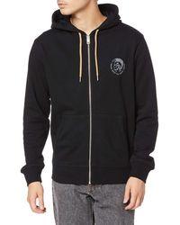 DIESEL Brandon Mohican Zip Hooded Sweatshirt,black,large