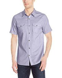 Guess - Melange Check Shirt - Lyst