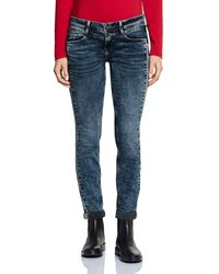 Street One 372643 Crissi Casual Fit Slim Jeans - Blau