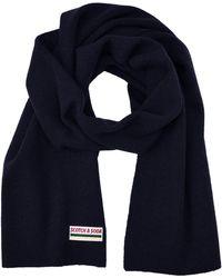 Scotch & Soda Classic rib knit scarf in soft wool-blend quality Schal - Blau