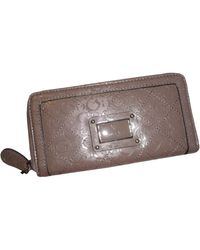 Guess Zip Around Wallet Warm Wishes Signature Logo Dark Taupe - Multicolore