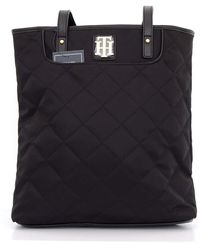 Tommy Hilfiger Handbag - Additional Small Bag - Quilted Structure - 35 X 35 X 10 - Black