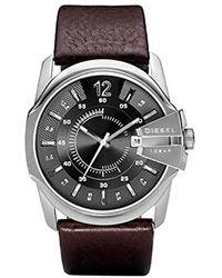 DIESEL Uhren Rund Analog Quarz Leder 32002660 - Rot