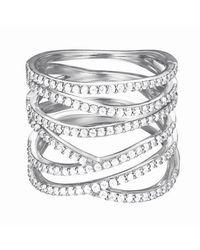 Esprit Ring 925 Sterling Silber Zirkonia brilliance glam weiß - Mettallic
