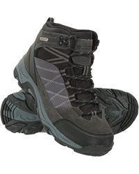 Mountain Warehouse Rapid S Waterproof Boots -suede & Mesh Upper Walking Shoes - Black