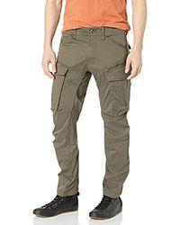 G-Star RAW Rovic Zip 3D Straight Tapered Pantaloni Uomo - Grigio