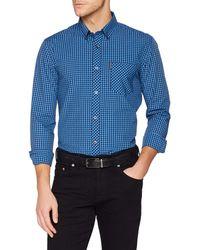 Ben Sherman Short Sleeve Eoe Gingham Shirt, Camicia Uomo, Blu (Marine), XX-Large