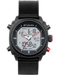 Columbia Ridge Runner Stainless Steel Quartz Watch With Nylon Strap - Black