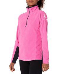 Columbia Ttip Glacial 1/2 Zip, Pink Ice, Black, Xl