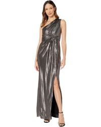 Adrianna Papell - Metallic Jersey Dress - Lyst