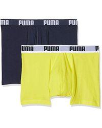 PUMA Boxer - Uni - Lot de 2 - - Multicolore