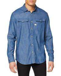 G-Star RAW 3301 Shirt L/S Camicia in Jeans - Blu