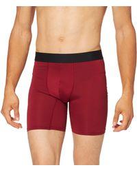 FIND Marchio Amazon - - Belk063m2, Pantaloncini Uomo, Multicolore (Black/Red(Merlot)), XS, Label: XS - Rosso