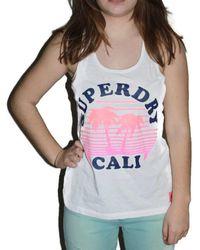 Superdry Debardeur Cali Burnout Vest - Multicolore