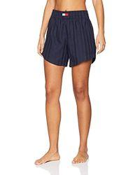 Tommy Hilfiger Damen Short Schlafanzughose - Blau