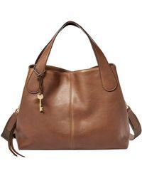 Fossil Maya Handbag Leather 34 Cm - Brown