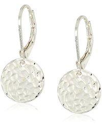 Nine West - S Silver-tone Small Drop Earrings, Size 0 - Lyst