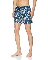 GANT Summer Floral Swim Shorts - Blue