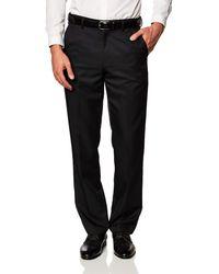 Amazon Essentials Expandable Waist Classic-fit Pleated Dress Pants - Black