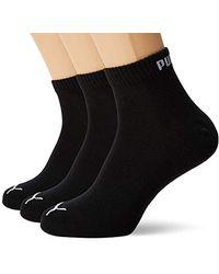 3 pair Puma Sneaker Invisible Socks Unisex Mens & Ladies In 3 Colours, color:800 anthracil mel greym me, Socken & Strümpfe:47 49